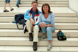 Ruud Rozemeijer with Sian Barry Prendergast at the steps of the British Museum, Saturday 18 June 2011