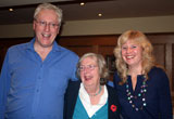 John Barry fans with June Lloyd-Jones (John's sister)
