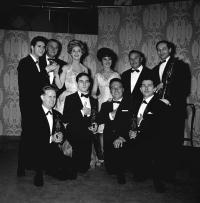 Recipients of Ivor Novello awards include Ron Grainer Cliff Richard Helen Shapiro Matt Monro Anthony Newley Johny Dankworth presented by Billy Butlin Katie Boyle 13.05.62
