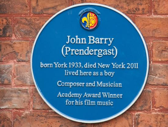John Barryhonoured with Blue Plaque in Fulford