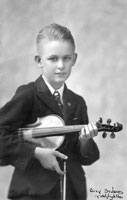 Ron with violin
